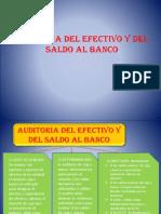 Auditoria Del Efectivo y Del Saldo Al Banco