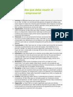 Habilidades Del Lider Empresarial
