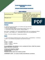 Lista de Alimentos PDF