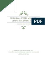 Demanda Oferta Mercados Verdes y Ed Exportacion