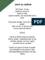 Cante Al Señor - Letra