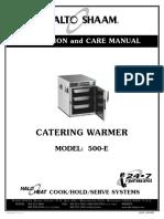 2011_9_16 Manual de Operacion Conservadora Caliente Alto-Shaam Modelo 500-E