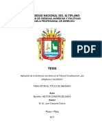 Tesis Aplicacion de Sentencia Normativa en Eltribunal Constitucional