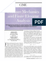 Fracture Mechanics and Finite Element Analysis