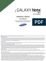 User Manual_Samung Galaxy Note 10.1 2014 Edition