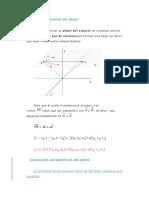 Ecuación Vectorial Del Plano