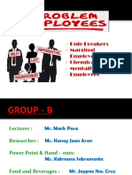 Problem Employees Ppt