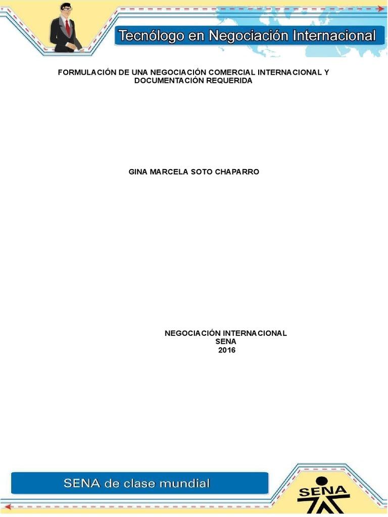 Evidencia 5 Formulacion de Una Negociacion Comercial Internacional y ...