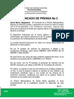 02-10-2016 Boletin Prensa No. 681 Comunicado No.2 1600 Hrs