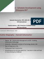 THU21-Schedule Development Using P6_011515