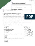 Evaluación Lenguaje y Comunicación La Carta