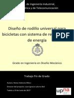 Diseño de Rodillo Universal Para Bicicletas Con Sistema de Recuperación de Energía
