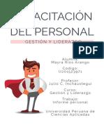 Informe Capacitación Del Personal