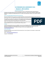 Pam9005 Brc Issue 5 and Auditone Self Assessment Tool Issue 2 Dec 2016