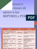 Organismos e Instituciones de Apoyo a Las MIPYMES