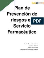 Plan de Prevención de Servicio Farmacéutico