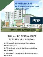 SOSIALISASI K3 RS Utk Orientasi Karyawan Baru - Mhs PKL