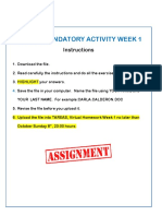 Mandatory Activity Week 1