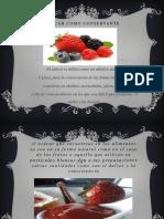 El Azucar Como Conservante Diapositiva