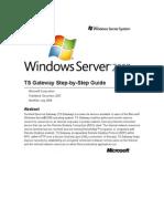 Windows Server 2008 TS Gateway Server Step-By-Step Setup Guide