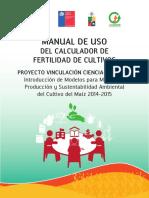 Manual Modelo de Fertilización de Maíz Grano