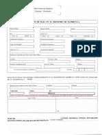 Impreso de Solicitud de Baja - Rellenable - 08-07-2015