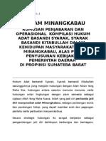 PIAGAM MINANGKABAU