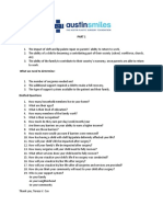 Proposed Drafted Questions - Partner with Austin Smiles