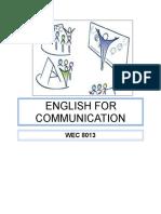 Facilitator Guide (english for communication wec8013)