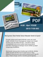 0813-2152-9993 (Bpk Yogie) | Obat Herbal Sendi Dengkul, Biocypress Lumajang