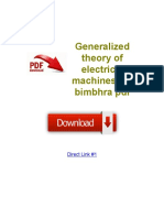 Generalized Theory of Electrical Machines p s Bimbhra PDF