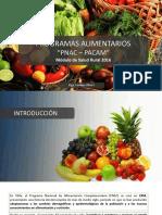 Programas Alimentarios (PNAC - PACAM) 2016