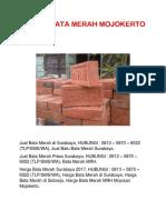 Jual Bata Merah Surabaya, 0813 – 5870 – 6022 (TLP/WA)