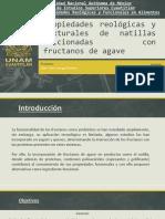 Efecto de Fructanos de Agave en las Propiedades Reologicas de Natillas