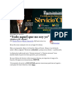 """Estrategia de Servicio """"Todo Aquel Que No Soy Yo"""""""