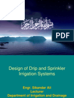 Design of Drip and Sprinkler Irrigation Systems