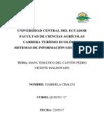 Informe Sig Mapa del Cantón Pedro Maldonado