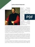 Biografía de Nicolás Maquiavelo