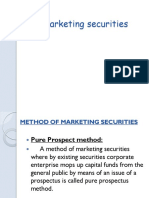 Marketing Securities