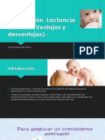 Ablactación, Lactancia Materna (Ventajas y desventajas