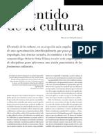 El sentido de la cultura