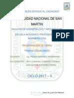 ESCALONADO DE PROGRAMACIÓN DE OBRAS
