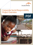 CSR Project Overview 2011