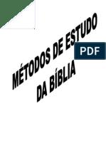 APOSTILA MÉTODOS DE ESTUDO BÍBLICO