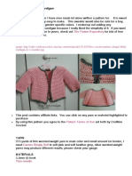 Pink bolero crochet