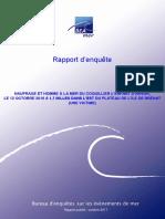 Naufrage à Bréhat. Le rapport du Bureau accident mer