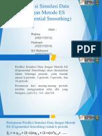 Prediksi Simulasi Data Dengan Metode ES