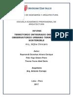 Informe Grupal(Territorio Integrado Desde El Observatorio Urbano Territorial Sostenible)