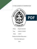 Inngam Zamzami_25010115130245_sasaran Utama Kesehatan Reproduksi