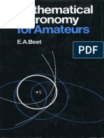 Mathematical Astronomy for Amateurs - E. A. Beet